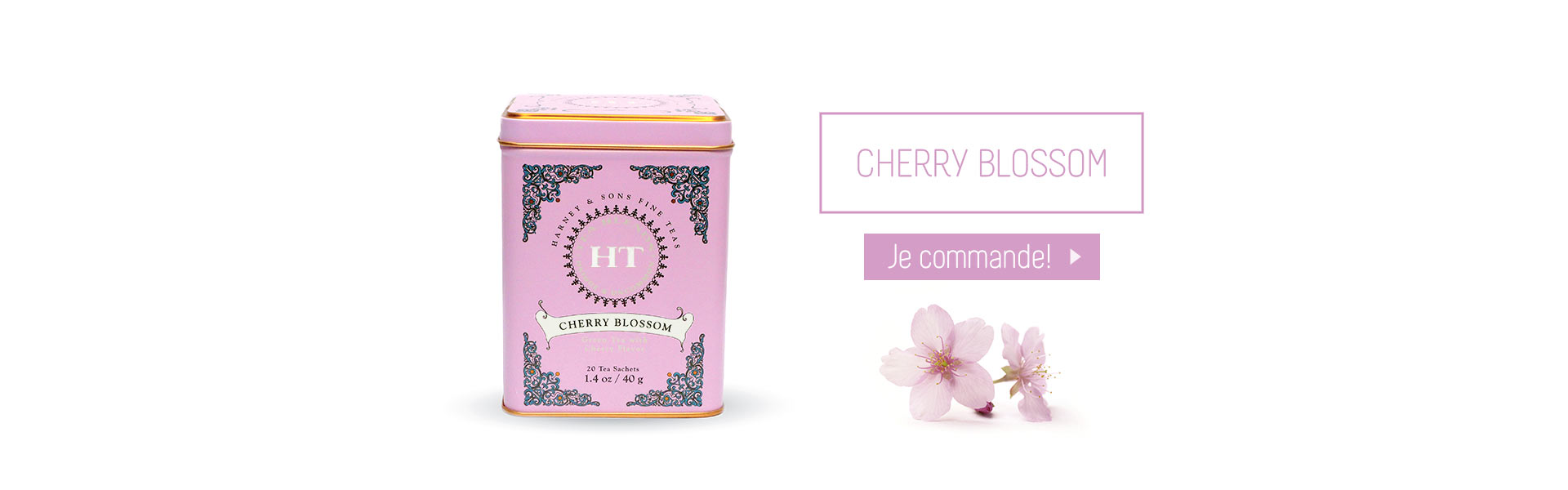 Acheter Harney and Sons Cherry Blossom thé