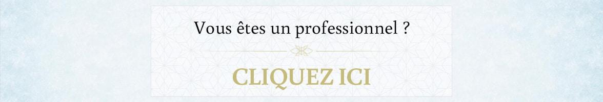 Inscrivez-vous en tant que professionnel