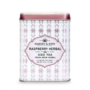 Raspberry Herbal - Iced Tea - 6 Pouches in Tin