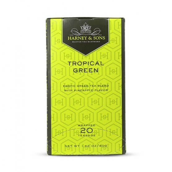 Tropical Green 20 tea bags carton box