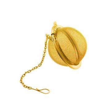 Boule à Thé dorée - En inox