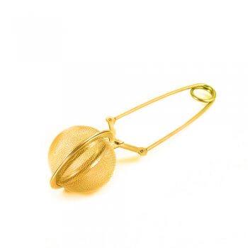 Pince à Thé Boule dorée