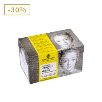 Jeanne-Antoinette - Boîte gourmande Noirs - Boite de 12 pochons