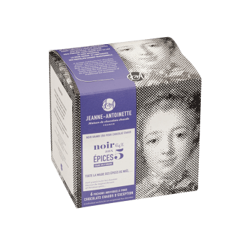 Jeanne-Antoinette - Noir aux 5 Epices - Boîte de 6 pochons