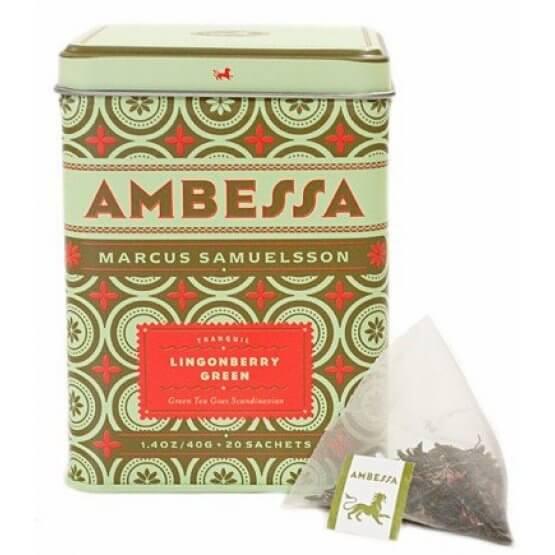 Ambessa - Lingonberry Green - Boite métal. 20 sachets
